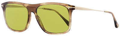 f217991ac70da Tom Ford Rectangular Sunglasses TF588 Max-02 47N Brown Melange Gold 57mm  FT0588