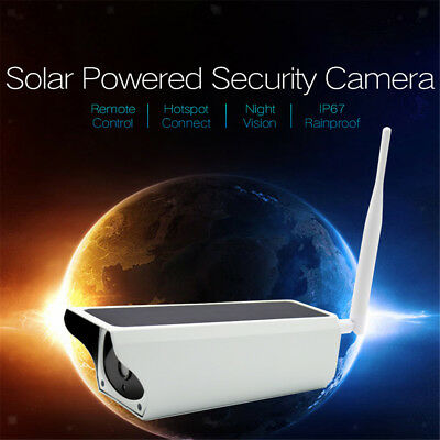 Lovoski CCTV Camera Solar Security Home Outdoor Monitor IR WiFi 1080P 2MP