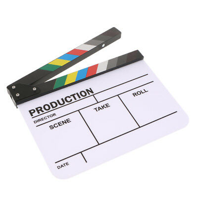 Lovoski Acrylic Colorful Clapperboard Film Movie Slate Cut Role Play Prop