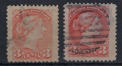 Canada  #37 // #41  3c   JUMBO ISSUES  SMALL QUEENS 1888-   FINE