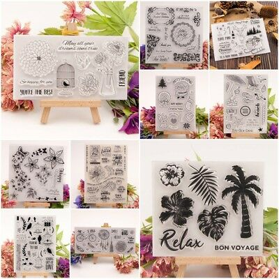 Various Silicone Clear Stamp Transparent Rubber Stamps DIY Scrapbooking Gifts