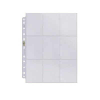 10x Ultra PRO 9-Pocket 11-Hole Binder Pages Card Display Platinum Clear x 10