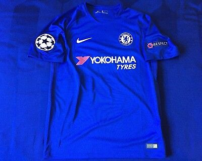 promo code 9dd74 001cf 2017/18 NIKE CHELSEA FC jersey w/ Champions League Patches - Size Medium