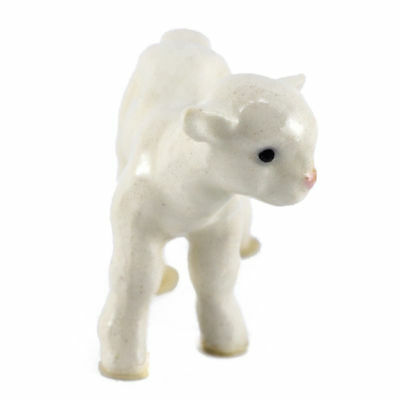 *NEW* White Lamb Miniature Figurine Made in USA by Hagen-Renaker