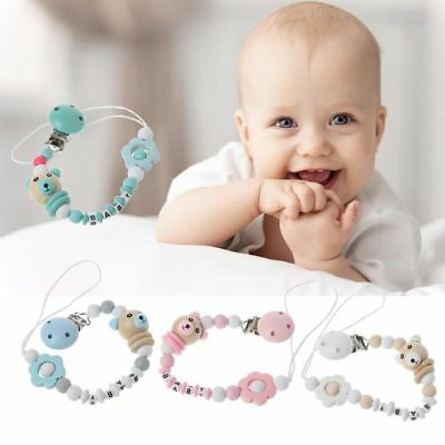 Baby Pacifier Chain Cute Panda Colourful Beads Dummy Clip Baby Soother Holder