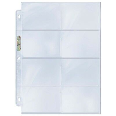 "Ultra PRO 8-Pocket Binder Pages 3-1/2"" x 2-3/4"" Cards Platinum Clear x 10"