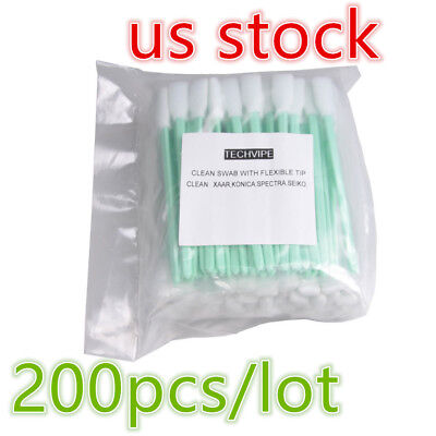 "USA 200pcs 5"" L Foam Cleaning Swabs for Epson / Roland / Mimaki / Mutoh Printer"
