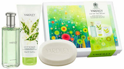 Yardley Lily Of The Valley Edition Perfume Hand Cream Soap Trio Gift Box