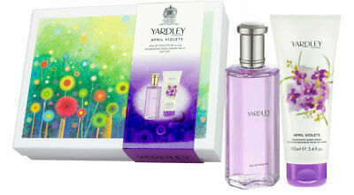 Yardley April Violets Edition Perfume Fragrance Hand Cream Lotion Duo Gift Box