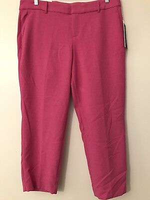 New Old Navy Women's Size 18 Pink Harper Pants Mid-Rise Wrinkle Free Crop
