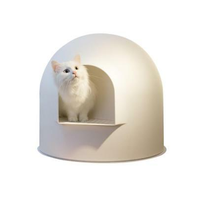 Snow House Portable Hooded Cat Toilet Litter Box Tray House w/ Scoop Extra Large