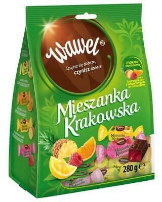 Wawel Krakow Blend Natural Fruit Jellies in Chocolate No Additives