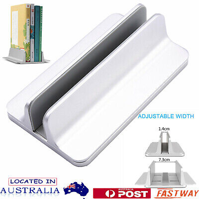 Aluminum Vertical Laptop Stand Adjustable Holder For MacBook Notebook Desktop AU