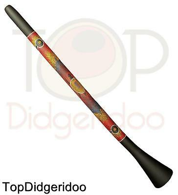 "59 "" 150cm PVC Didgeridoo, Dot-Painting, Strong SUONO, Leggera, Facile da Play"