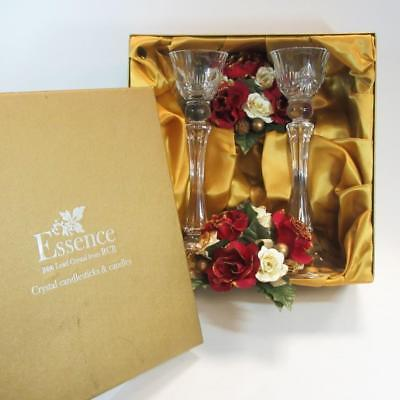 Essence 8.5-inch 24% Lead Crystal Glass Candlesticks from RCR in Box