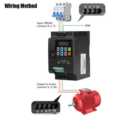 2.2kW Single to 3 Phase Variable Frequency Drive Inverter AC Motor Speed Control