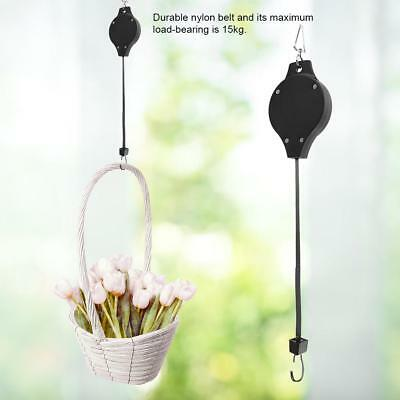 Adjustable Telescopic Retractable Pulley Pull Down Hanger for Potted Plants 15kg