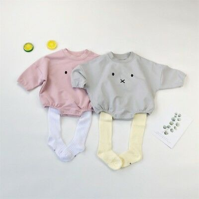AU Toddler Baby Boy Girls Easter Bunny Clothes Romper Bodysuit Sunsuit Outfits