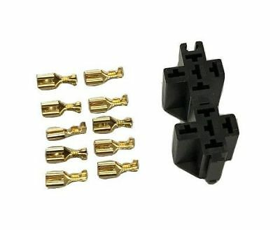 2 x NEW RELAY FLASHER MULTI PLUG HOLDER SOCKET BASE KIT 1 2 3 4 5 PIN RP001 MURE