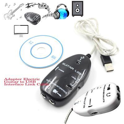 Guitar to USB Interface Link Cable Adapter MAC/PC  Recording CD Studio Lapto