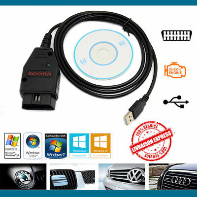 Interface diagnostic OBDII VW HEX+K+CAN USB COM VAG 2014 Full Command Anglais