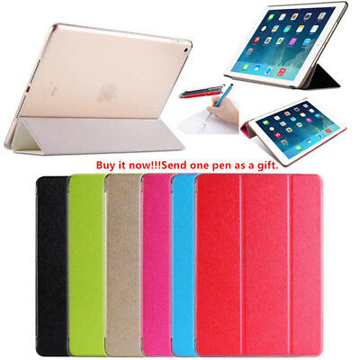For iPad Air Mini 1 2 3 4 iPad Pro Magnetic Slim PU Leather Smart Cover Case AS