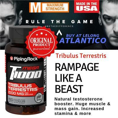 Ultra T1000 Tribulus Terrestris 1000Mg 100 Caps High Strength Quality Mega Deal