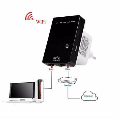Range Repeater Router Signal Extender Wifi Wireless Booster 300mbps Ap Network