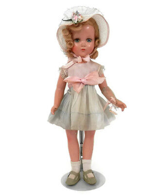 R&B Nancy Lee Composition Doll All Original Dress Hat and Shoes with Mohair Wig