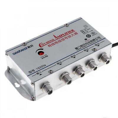 TV VCR Aerial Signal Booster 4 Way Amplifier Splitter Send Picture to Rooms