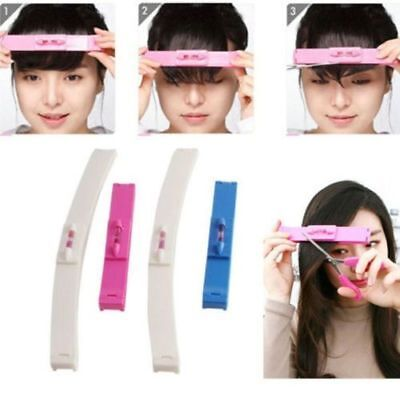 DIY Fashion Hairstyle Fringe Pro Hair Cutting Clip Comb Tool Trim Bangs 2x HS