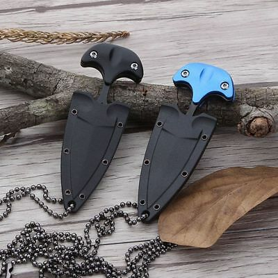 Mini Dual Edge Dagger Fixed Blade Neck Knife Outdoor Hunting Camping Survival