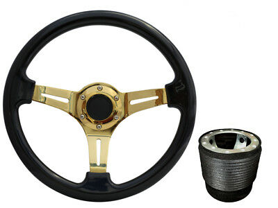 Black Gold TS Steering Wheel + Boss Kit fits VW T4 1996 - 2003 045