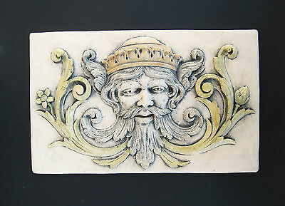 King   Greenman   Gargoyle   Floral  Garden   Arts & Crafts Gothic Ellison Tile