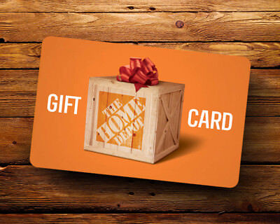 HOME DEPOT GIFT CARD 100.00 (Card Value) ***FREE SHIPPING***
