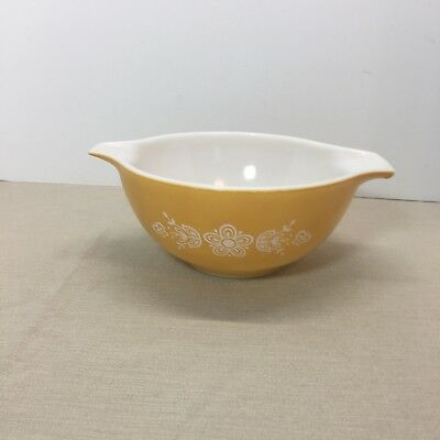 Pyrex Buttefly Gold #442 Cinderella Mixing Bowl 1 1/2 Quart, Baking, Vintage