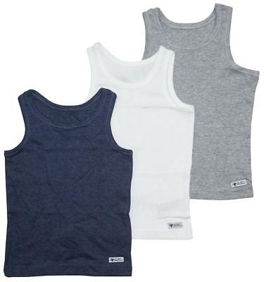 Boys Vests 3 Pack Tank Assorted School Value Underwear 1.5 to 16 Years