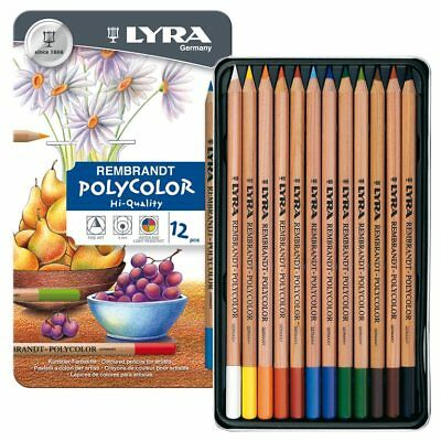 LYRA Rembrandt Polycolor Pencils Tin of 12 - Made In Germany