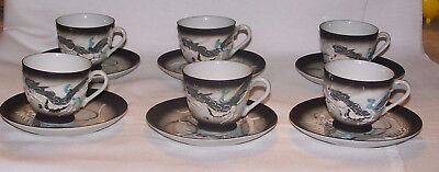 6 Dragonware Cups And Saucers