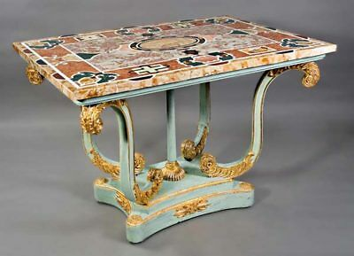 High Quality Pietra Dura Marble Platter with Semiprecious Stones Inlay