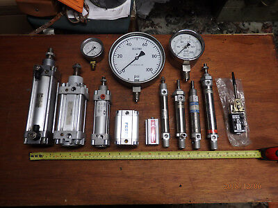 Pneumatic cylinders/gauges JOB LOT