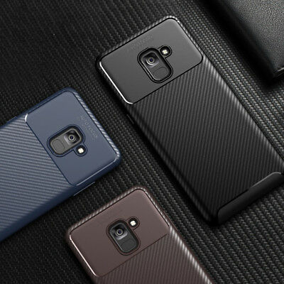 Case for Samsung Galaxy A8 A6 J4 J6 Note 9 Shockproof Silicone Carbon Cover