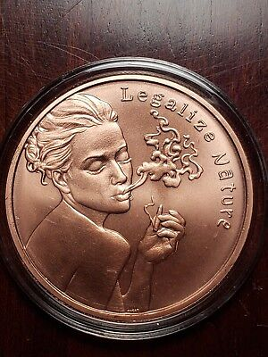 LEGALIZE NATURE   1 oz Copper Round Coin  from Silver Shield  2018