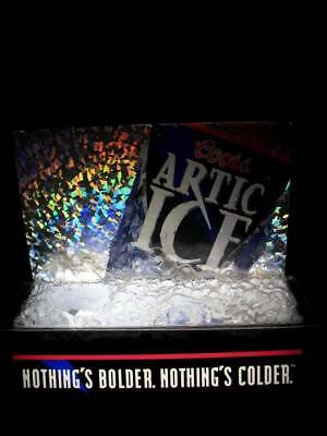 COORS BREWING COMPANY ARTIC ICE HOLDER NEON RARE Light  MAN CAVE GARAGE BUD BEER