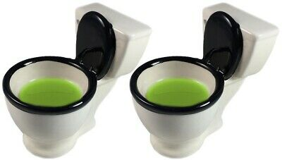 2 Pack Novelty Toilet Design Alcohol Whiskey Cocktail Drinking Shot Glasses Cup