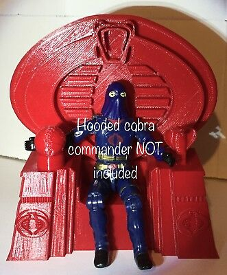 "GI Joe Cobra Custom Throne 3D Printed red  ""LAST ONES UNTIL JANUARY!"""
