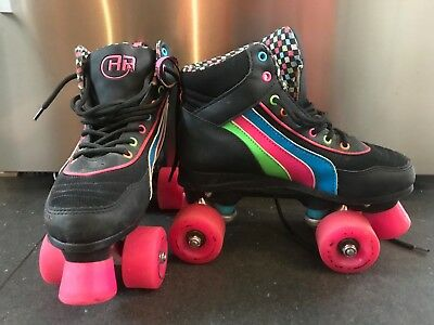 Girls Retro Roller Boots Size UK4 Used Good Condition