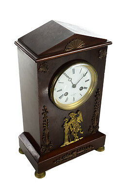 Harry Marc Paris -19th century French Empire Mahogany Mantle Clock