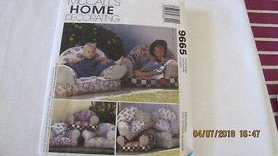 McCalls Home Decorating Pattern: Kid Chairs