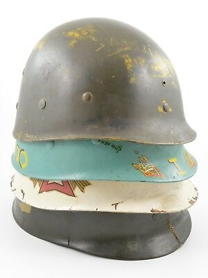 Lot of 4 Original WWII-Korean War M1 Helmet Liners (MSA Westinghouse West/Capac)